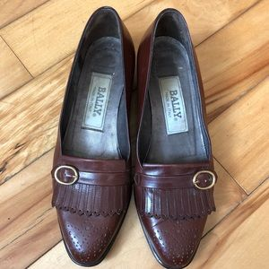 Vintage Bally Leather Loafers